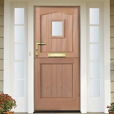 External Door Hardwood Front Back Exterior Unglazed Stable Wood Gate Modern Home