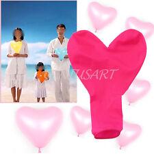 50 Palloncini Rosa CUORE 10x7cm Matrimonio Fidanzamento Anniversari St Valentino