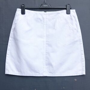 BNWT TOPSHOP TALL Short White Denim Skirt size UK 14 Tall