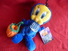 "NEW!! Warner Brothers ""TWEETY SKELETON"" BEAN BAG 7"""