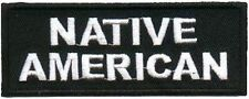 NATIVE AMERICAN Embroidered Biker Motorcycle Indian MC Club Vest Patch PAT-1272