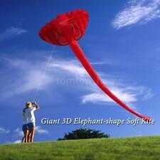 Single Line Kite 380*200cm Children Adults Giant 3D Elephant Kite Frameless