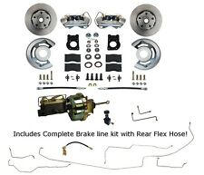 1964 65 66 Ford Mustang Power Disc Brake Conversion Kit with Full Brake Line kit