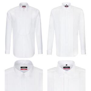 Seidensticker Langarm Smokinghemd Galahemd Hemd Modern Regular GALA UMA weiß