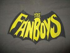FANBOYS T SHIRT Band Concert Tour Movie Retro Batman Parody Logo Worn Print LG
