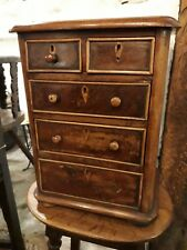 A Victorian  apprentice piece chest of drawers miniature jewel chest to restore