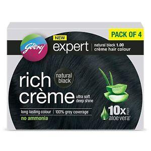 Godrej Expert Rich Crème Hair Colour Shade 1 NATURAL BLACK,