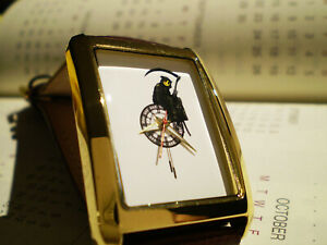 Banksy Grim Reaper Mens / Unisex Wrist Watch.  Transformation Art Dial.