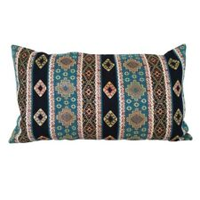 "Turquoise Kilim Pattern Tapestry 14x24"" Pillow Case / Cushion Cover (Linen back)"