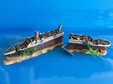 Heritage Aquarium Fish Tank Ornament WS021S Small 2pc Titanic