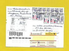 RUSSLAND  1998  - EINSCHREIBEN/Sammlerbrief echt gelaufen nach Deutschland
