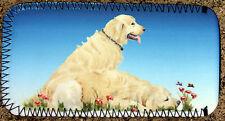 GOLDEN RETRIEVER DOG GLASSES CASE POUCH SANDRA COEN ARTIST WATERCOLOUR PRINT