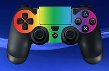 2 x PS4 PLAYSTATION RAINBOW CONTROL PAD DECAL STICKERS - MULTICOLOURED PATTERN