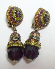 HEIDI DAUS Colorful Rhinestone Dangle Bauble Earrings