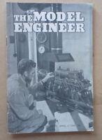 1952 MODEL ENGINEER MAGAZINE APRIL 17 COVER: MINI STEAM LOCOMOTIVE