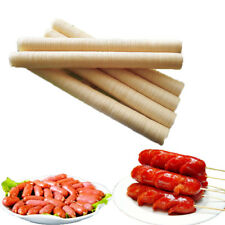 46Ft Collagen Dry Pig Sausage Casing Tube Meat Maker Smoked Sausage Skins Tools