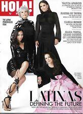 Hola Magazine Gloria Estefan Zoe Saldana Rita Moreno Eva Longoria Fashion .