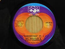 Bill Hemmans & Clay Composite - Summertime Pt. 1&2 45 - VG+ to VG++
