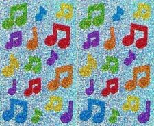 Sparkle Multi Colour Music Notes Musical Musician Sing Mrs Grossman Stickers