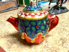 Mary Engelbreit Bright and beautiful Teapot Christmas ornament (not a mini)