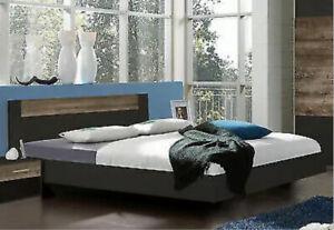 Wimex Bett + Lattenrost + Nachttisch - 140 x 200 - Farbe Lava - Neu und OVP
