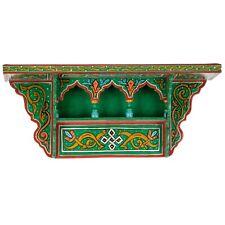 Vintage Hand painted, Wall Green Shelf, Reproduction, Handmade, Wood