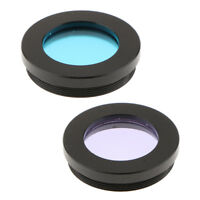 """Telescope Eyepiece Filter Blue Purple Color for Astronomy 1.25"""" Moon Planet"""