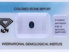natürlicher 0,63 Karat Saphir Oval blue IGI Expertise