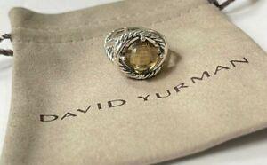 David Yurman Sterling Silver Infinity Smoky Quartz 11mm Ring 7.25