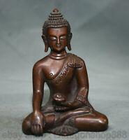 "4.2 ""Antique Bouddhisme Tibet Bronze Rouge Shakyamuni Amitabha Bouddha Statue"