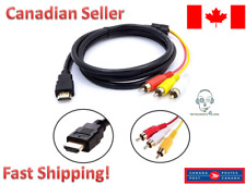 HDMI to RCA Cable / AV Composite Adapter HDMI Male to 3-RCA to TV 5ft - Black