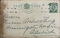 King George V ½ Penny Antique Postcard Posted from Newcastle 11 November 1914