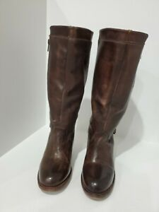 Bed stu womens brown leather fashion boots size 7 M