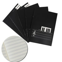 New Blank Music Manuscript Writing Paper Book - Staff Notebook Black 18 Pages ca