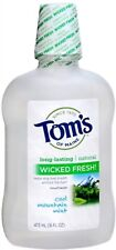 Tom's of Maine Wicked Fresh! Mouthwash Cool Mountain Mint 16 oz (Pack of 7)