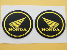 Fuel Tank Fairing Round Sticker Decal Emblem for Honda Wing Gel Rubber 55mm