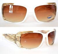 OCCHIALI DA SOLE BIANCHI donna lenti ovali brillantini strass темные очки 25
