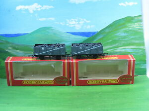 2 x Hornby R6058 NE 9 plank loco coal wagons (with load) boxed
