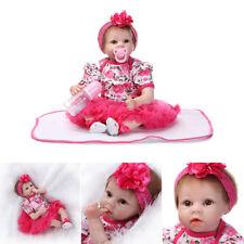 55 cm Real Life Mädchen Silikon Vinyl reborn Baby puppe Kind Weihnachtsgeschenk