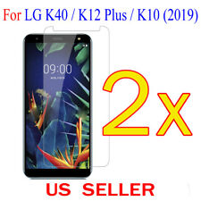 2x Clear LCD Screen Protector Guard Cover Film For LG K40 / K12 Plus / K10(2019)