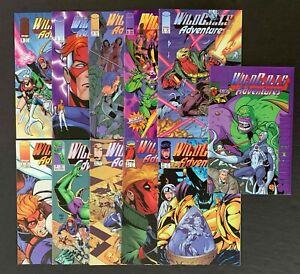WILDCATS ADVENTURES FULL SET #1,2,3,4,5,6,7,8,9,10+SOURCEBOK IMAGE 1994-95 VF/NM