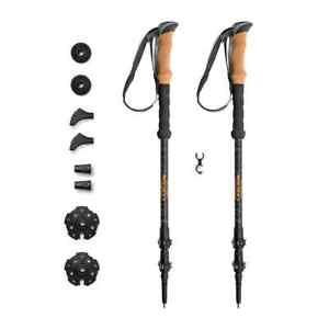 Cascade Mountain Tech Carbon Fiber Adjustable Trekking Poles - Lightweight Quick