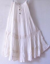 NEW~Ivory Crochet Vintage Lace Peasant Tiered Boho Dress-Skirt~16/18/14/XL