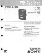 Sony original Service Manual para WM-a 26-B 26