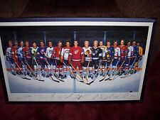 Lithograph 500 Goal SIGNED  Auto Maurice Richard Hull Howe  16 of 19