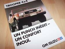 Prospectus / Brochure ISUZU Trooper 1988 //