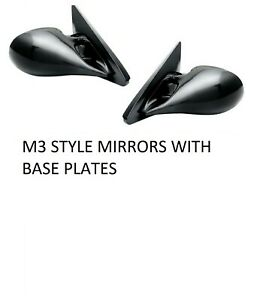 BLACK ELECTRIC M3 STYLE SPORT MIRRORS FOR VAUXHALL CORSA B MODEL