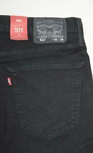Black 511 Levi's Slim Jeans: 045114406
