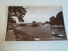 Vintage Real Photo Postcard Staines Bridge and Tow Path Franked & Stamped 1936