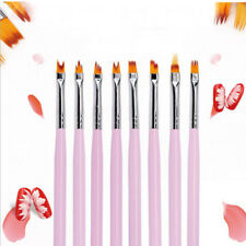 8Pcs Baauty Acrylic Nail Art Brush Sable Gel UV Nail Painting Flower Drawing Pen